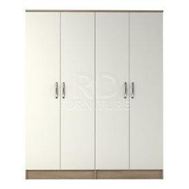 Beatrice 4 door wardrobe oak and white