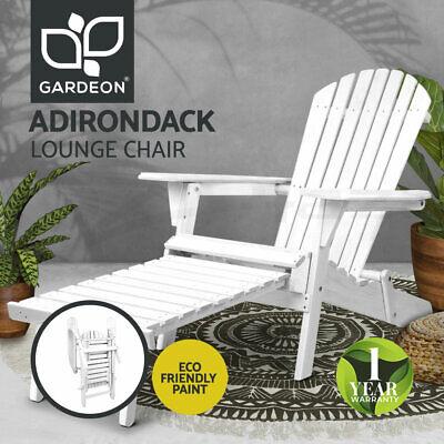 Garden Furniture - Gardeon Outdoor Chairs Patio Furniture Wooden Sun Lounge Beach Garden Adirondack