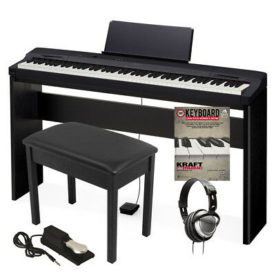 Casio Privia PX-160 Digital Piano - Black HOME ESSENTIALS BUNDLE
