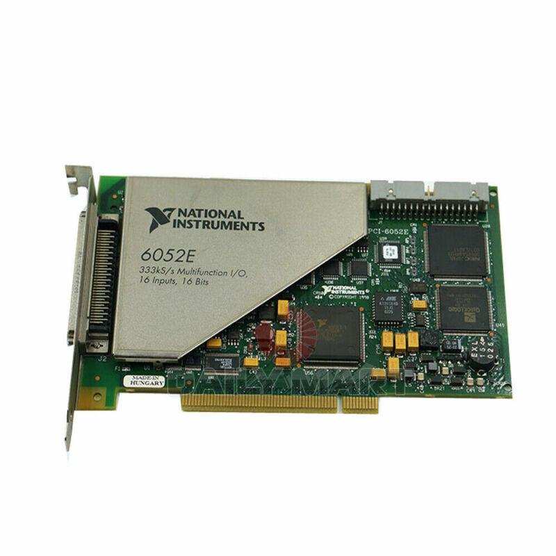 Used & Tested National Instruments PCI-6052E Card Analog Input
