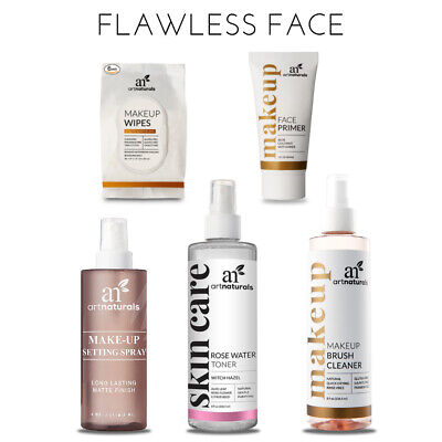 Flawless Face Makeup Set - 5pc Natural Beauty Bundle - Cleanse Hydrate -