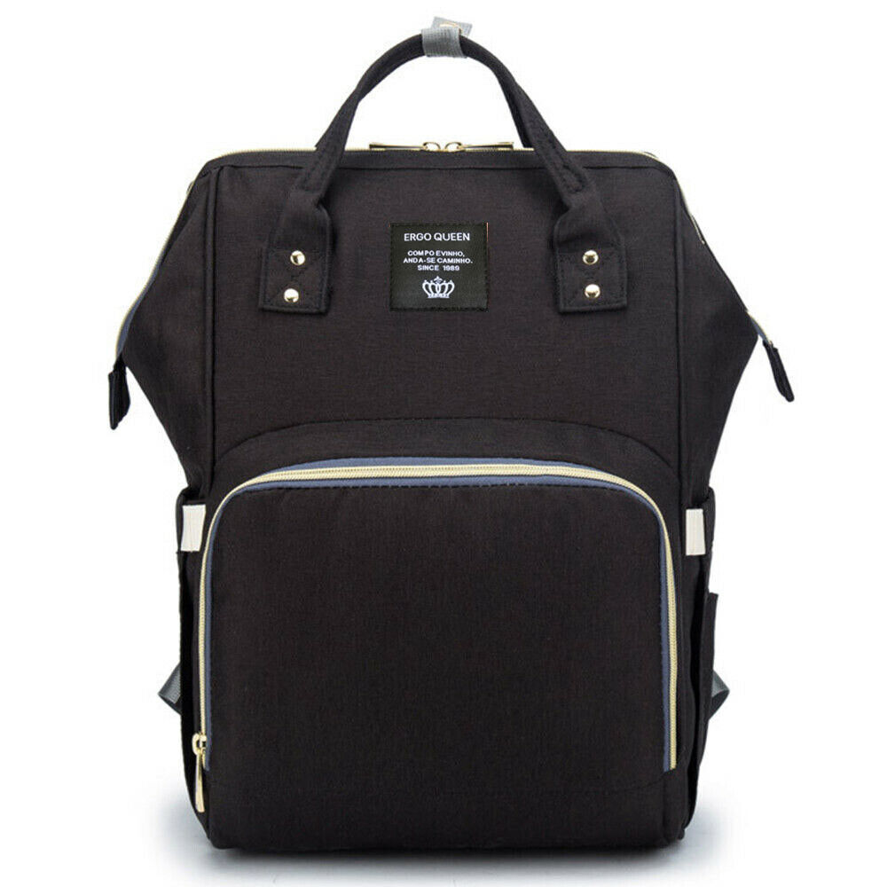 Ergo Diaper Bag Backpack Mummy Maternity Nappy Large Capacity Baby Bag Travel  Black