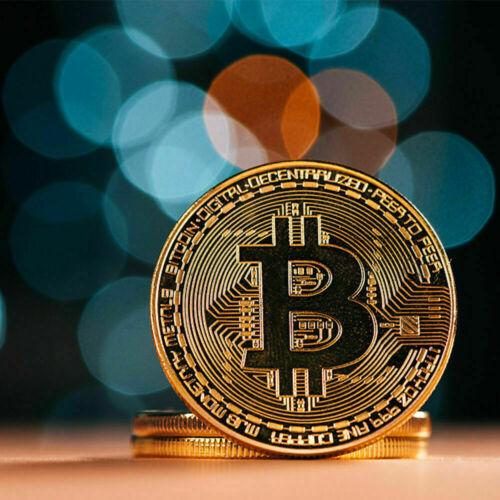 Bitcoin Gold Plated Physical Fantasy Commemorative Collector Gift Virtual Coin