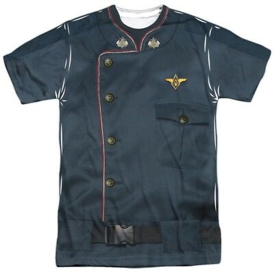 Battlestar Galactica Costume (Authentic Battlestar Galactica Duty Blue Uniform Costume Allover Front)