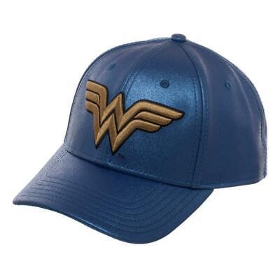 Blue Glitter Hat w/ Wonder Woman Logo - Wonder Woman Dad - Wonder Woman Hat