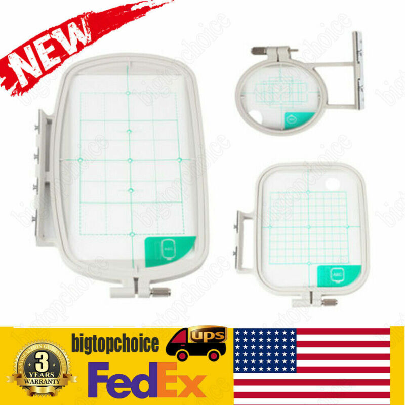 3Pcs Embroidery Hoop Set for Brother Embroidery Machines - SE400 SE425 PE500 USA