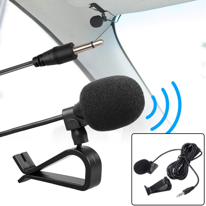 Handsfree 3.5mm Microphone Car Stereo GPS Bluetooth Enabled Audio Mic USA Fast