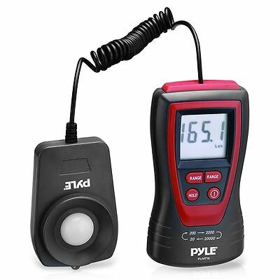New Pyle Plmt15 Lux Light Meter W 2x Per Second Sampling 200000 Lux Range