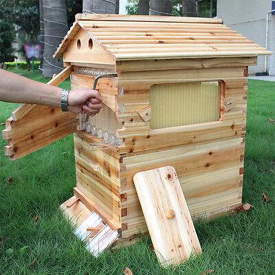 Full Set Cedarwood Super Brood Beekeeping Box 7 Pcs Auto Honey Bee Hive Frames