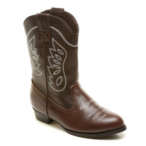 NEW-Genuine-Leather-Cowboy-Boots-Kids-Girls-Boys-Cowgirl-2-8yrs-EU25-EU34