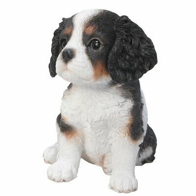 "Sit Up Cavalier King Charles Spaniel Puppy Dog Pet Pal 6.5""H Figurine Statue"