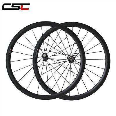 Csc 25Mm Width U Shape 38Mm Clincher Carbon Bike Wheelset Sat Carbon Road Wheels