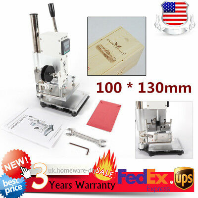 1013cm Leather Hot Foil Stamping Machine Digital Wooden Logo Bronzing Print New