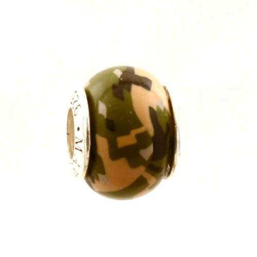 Woodland Marine Camo Camouflage Bead Charm for Add-a-Bead Bracelet by MAYselect