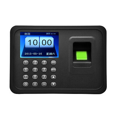 "A6 2.4"" TFT Biometric Fingerprint Time Attendance Machine T9 input and updating"