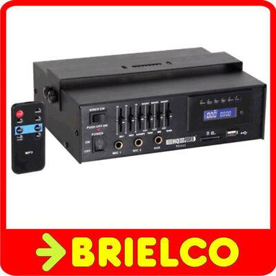 AMPLIFICADOR MEGAFONIA 15WRMS ENTRADA USB SD MP3 MICRO AUX 4-8-16OHM 100V BD3597