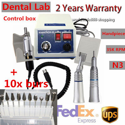 Dental Lab Marathon 35k Rpm Micro Motor N3 Machine Handpiece10x Drills Burs Usa