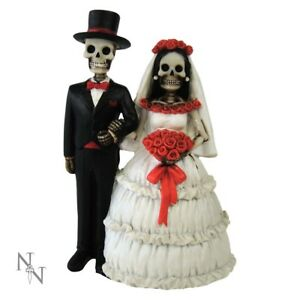 Nemesis Now Eternally Yours 13cm Wedding Cake Topper Skeleton Gothic Ornament