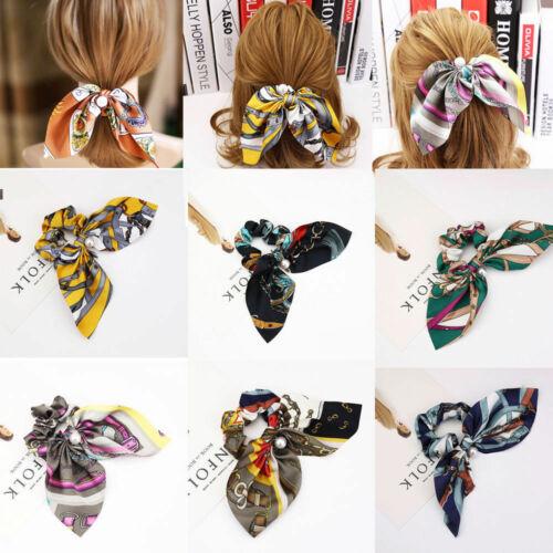 Frauen elastische Polka Dot Print Haarband Seil Scrunchie Pferdeschwanz Sell
