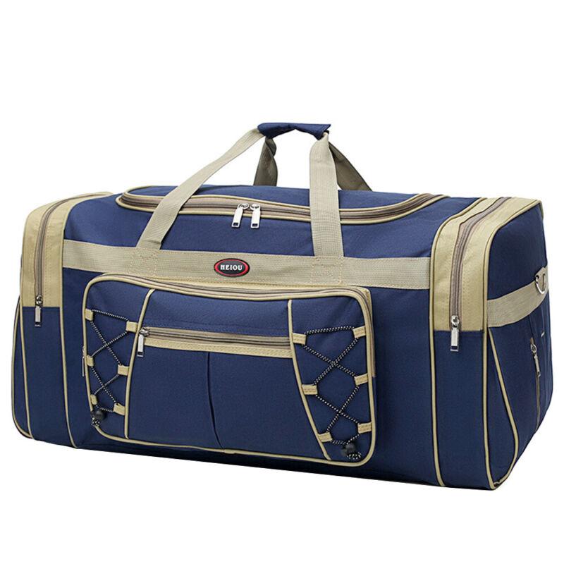 "25"" Men Travel Gym Duffle Bag Sports Waterproof Blue Tote Handbag Overnight New"