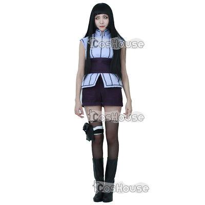 Movie Hyuga Hinata Cosplay Costume Fullset Outfit Fancy Dress Halloween - Hinata Hyuga Halloween Costume