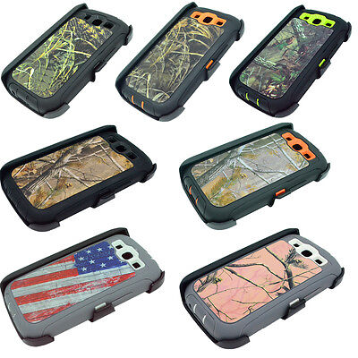 For Samsung Galaxy S3 Case Cover w/ (Belt Clip fits Otterbox Defender series). - Samsung S3 Case