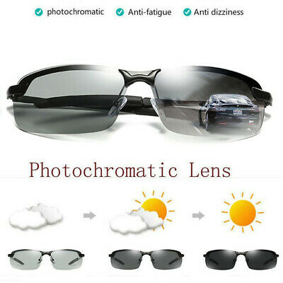 New Men's Photochromic Polarized Sunglasses Day and Night Driving Sports Glasses