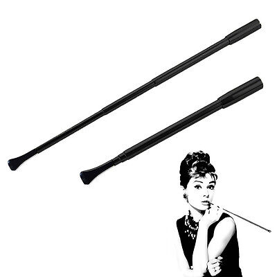 Telescopic Lady Slim Cigarette Holder Filter Cartridges Core Cosplay Props Black