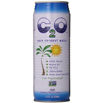 C2O Pure Coconut Water-Original Pure Coconut Water (12-17.5 oz cans)