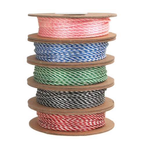 Cotton Bakers Twine Ribbon, Made In England, 10 Ply, 22 Yards
