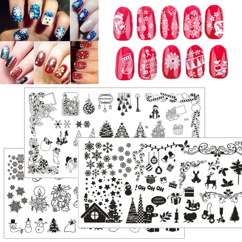 New Nail Art Image Halloween Christmas Stainless Steel Stamping ...
