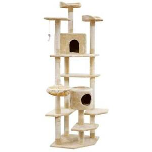 NEW Cat Scratching Poles Post Furniture Tree House Beige North Melbourne Melbourne City Preview