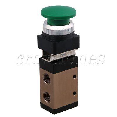 Small Frictional Pt14 Green Push Button Pneumatic Mechanical Valve Msv-98322pb