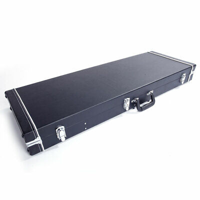 """41"""" Portable Square Electric Guitar Hard Case Shell Lockable Carrying Case"""
