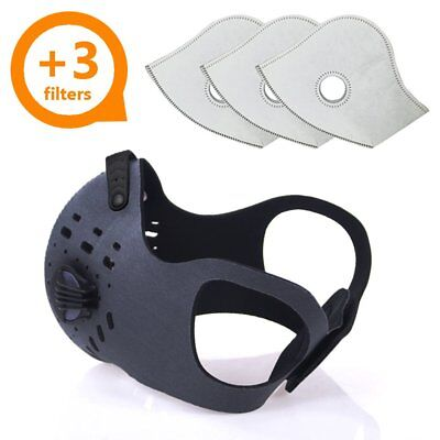 Activated Carbon Dust Mask For Breathing Clean Air With Extra Filters