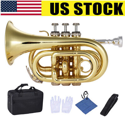 Bb Red Lacquer Brass Trumpet High Quality w Strong Lightweight Case Mouthpiece
