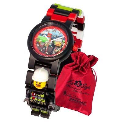 LEGO City Feuerwehrmann Kinder Uhr 8021209 Armbanduhr mit Säckchen ULE8021209