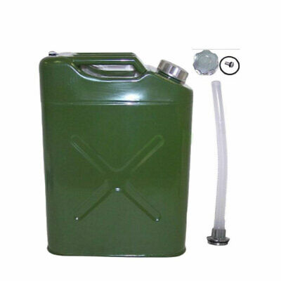 5 Gallon Gas Can Metal Jerry Gasoline Container Tank Emergency Backup Diesel Usa