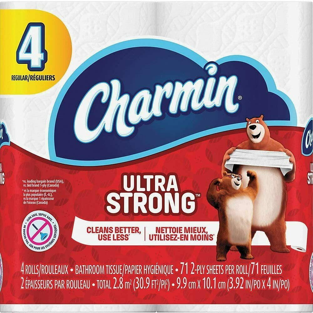 Charmin Bathroom Tissue Ultra Strong White 71 Sheets Per Roll 4 Rolls General Household Supplies
