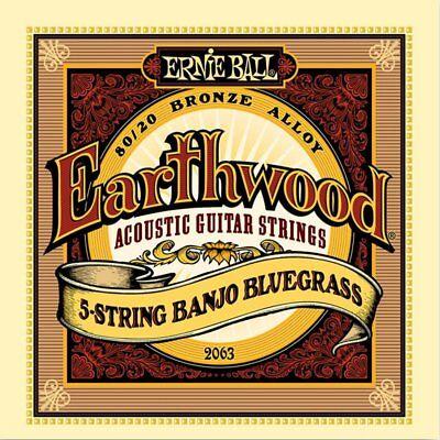 Ernie Ball 2063 Earthwood 5-String Banjo strings BlueGrass 9-20