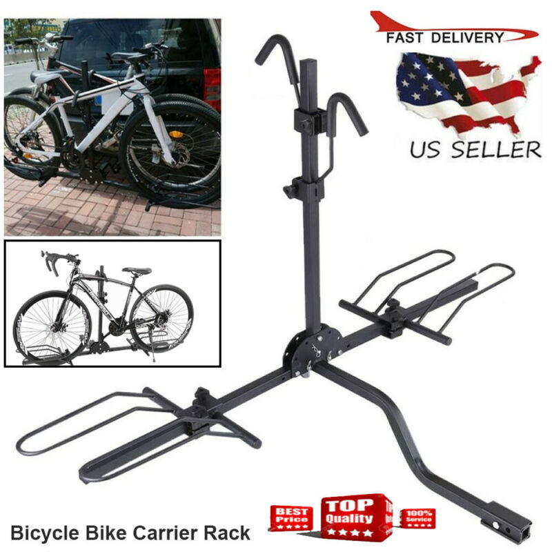 Bicycle Stand 2 Bike Carrier Platform Hitch Rack  Mount Sport Fold Receiver 2in