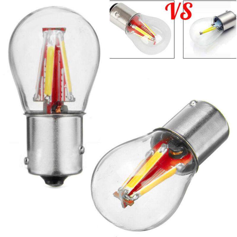 4 LED Filament 1156 BAU15S 581 PY21W LED Turn Signal Light Reverse Lamp Bulb New