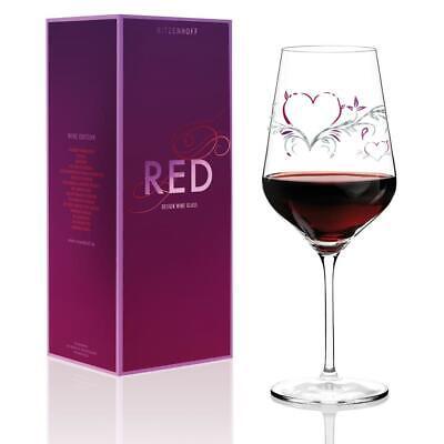 Ritzenhoff RED Design Rotweinglas HERZEN by Kurz Kurz Design 2014