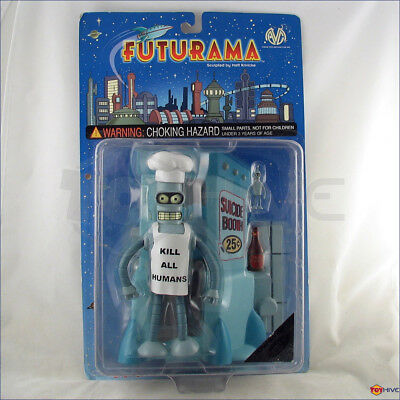 Futurama Chef Bender action figure Carded Moore Action Collectibles RARE sealed