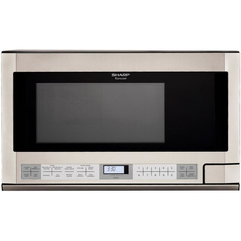 Sharp 1.5 Cu. Ft. Over-the-Counter Microwave with Sensor Cooking Stainless Steel R-1214