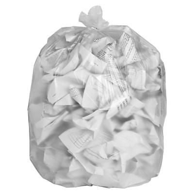 - 1000 ct 12-16 Gallon High Density Trash Bags Garbage Can Liners Clear Office
