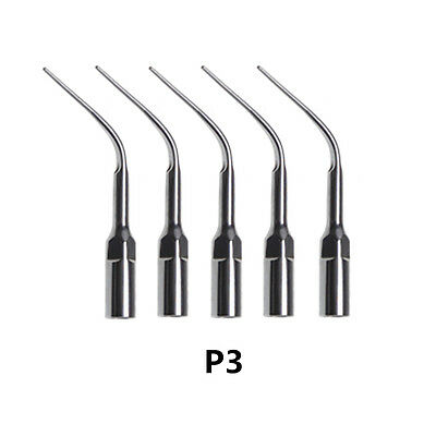 5pcs Dental Ultrasonic Piezo Scaler Scaling Tip P3 Fit Ems Woodpecker Hanpiece
