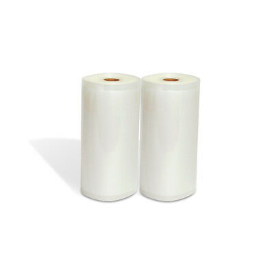 "TWO (2) 8""x50' Rolls for Vacuum Sealer Machines Food Storage & Money Saver"