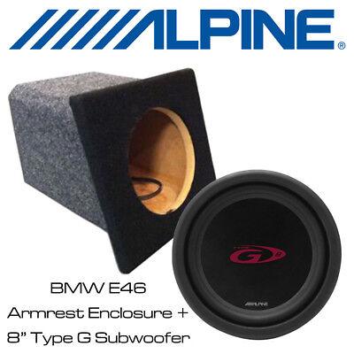 BMW E46 Convertible Custom built Armrest Bass Box with 8