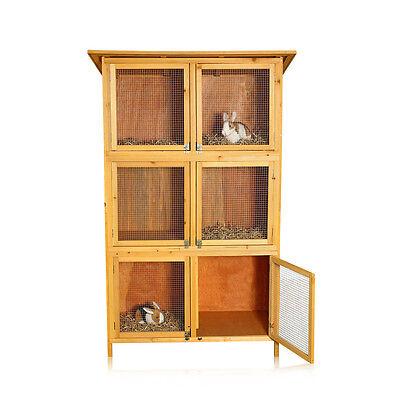 6 Boxen Hasenstall Kaninchenstall Kleintierstall Nagerkäfig Aufzucht Holz
